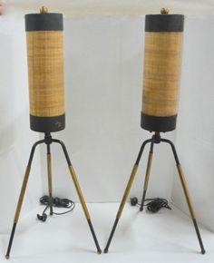 Mid Century Modern Table Lamps Bulmore? via Ebay