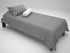 Desde el estudio de visualización chileno Keewee llega este modelo 3D gratuito de una cama single, compatible con 3ds Max 2011 (o superior) y V-Ray 2.40.04.