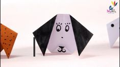 How to make puppy dog in paper   kids origami paper craft tutorial   kawaii crafts   kids DIY