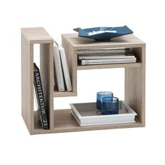 FMD Coffee Table with Magazine Rack Oak Living Room Furniture Stand Patio Furniture Covers, Table Furniture, Living Room Furniture, Furniture Design, Regal Design, Asian Furniture, Side Table With Storage, Wooden Side Table, Side Tables