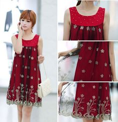 Bending Embroidery Lace/Chiffon Tank Maternity Casual Dress Elegant Clothes for Pregnant Women Summer Clothing for Pregnancy-in Dresses from Mother & Kids on Aliexpress.com | Alibaba Group