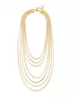 R.J. Graziano Goldtone Multi-strand Bib Necklace