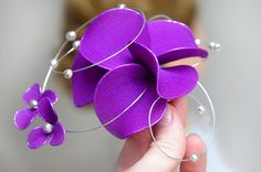 Purple fascinator Bridesmaid headpiece Eggplant fascinator Purple hairpiece Wedding hair comb Wedding headpiece Hair comb by #MyArtDeco