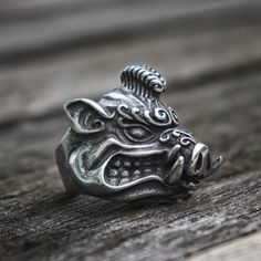 Animal Rings, Animal Jewelry, Jewelry Art, Skull Jewelry, Stainless Steel Material, Stainless Steel Rings, Mens Skull Rings, Viking Jewelry