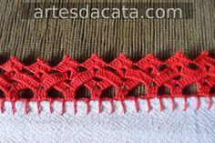 BICOS DE CROCHE Crochet Boarders, Crochet Edging Patterns, Crochet Motif, Crochet Designs, Crochet Doilies, Crochet Flowers, Crochet Yarn, Crochet Trim, Love Crochet