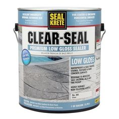 This Seal-Krete Clear-Seal Low-Gloss Sealer is designed to help protect bare and painted concrete floors in indoor and outdoor spaces. Concrete Sealer, Painted Concrete Floors, Painting Concrete, Sealing Concrete Countertops, Concrete Color, Home Depot, Garage Floor Paint, Concrete Porch, Grey Exterior