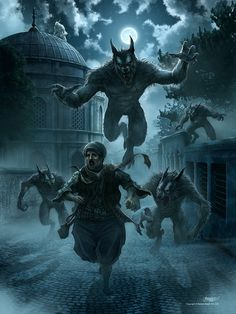 Another Terror Tuesday begins with werewolves and talent.Kos Ule - kerembeyit at Deviantart.Prints available here.
