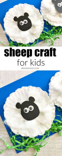 Sheep Craft for Kids Young children will love this simple sheep craft that uses cupcake liners, cotton balls, Easter grass, and some basic craft supplies. This activity is perfect for spring, and the end result is a cute and fluffy farm animal. Farm Animals Preschool, Farm Animal Crafts, Sheep Crafts, Animal Art Projects, Animal Crafts For Kids, Art For Kids, Farm Theme Crafts, Preschool Farm Theme, Animal Activities For Kids