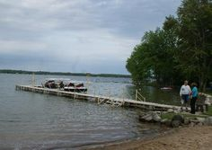 New Boat Dock at Falcon Cover Resort in Michigan. Located on Long Lake just 3 miles from great fishing on Lake Huron.  www.1fghp.com/mi.html