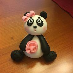 Cute panda bear for my daughter's cake