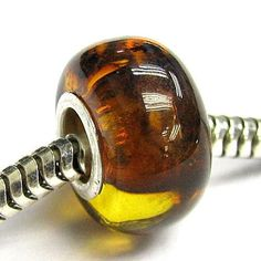 Sterling Silver Baltic Cognac Amber Round Bead For European Charm Bracelets Queenberry. $24.98. Color: Bright Silver and Cognac Amber. Hole Size: ~4.5mm. Materials: 925 Sterling Silver, Lt Cognac Amber stone (Genuine ). Size: ~12.8mm (diameter) x 7.8mm. Quantity: 1 piece. Save 80% Off!
