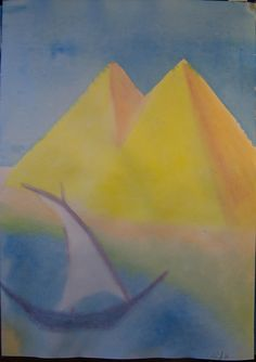 5th Grade: Painting; Egypt Ancient Egypt Art, Ancient Mesopotamia, Old Egypt, Ancient Aliens, Ancient Civilizations, Ancient Artifacts, Ancient Greece, Painting Lessons, Art Lessons