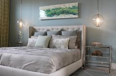 A soft blue with a hint of gray is a fantastic choice to create a soothing, relaxing vibe in a bedroom. Those who live in areas where cool a...
