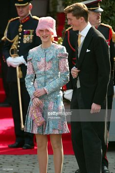 Princess Maria Laura of Belgium and Prince Amedeo at the wedding of Prince Laurent and Claire Coombs.