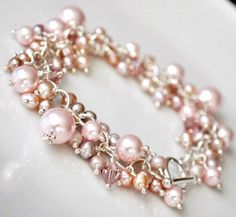 Something Jeweled Beautiful Pearl and Crystal Bracelet