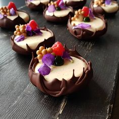 Vanilla, Raspberry and Manjari #pastry #pastrychef #patisserie #dessertmasters #dessert #valrhona #silikomartprofessional #sodersgourmet…