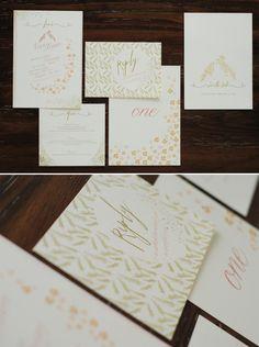 birds of a feather, vintage wedding invitation suite