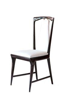Set of 8 Osvaldo Borsani Dining Chairs, 1950 ITALY