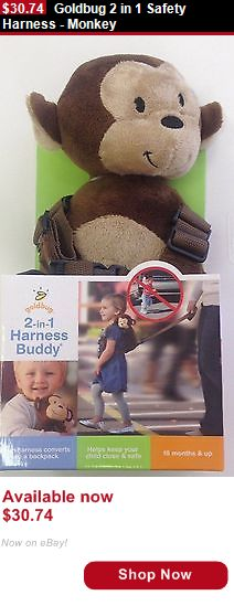 Toddler Safety Harnesses: Goldbug 2 In 1 Safety Harness - Monkey BUY IT NOW ONLY: $30.74