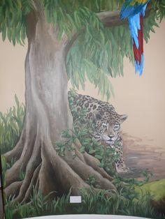 Jungle Mural Jungle Room, Jungle Theme, Murals For Kids, Art Wall Kids, Mural Painting, Painting For Kids, Childrens Jungle Bedrooms, Kids Decor, Art Decor
