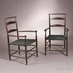 Late 19thC Mt. Lebanon armchairs.