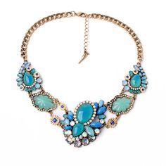 Seascape Statement Collar Necklace – Fanduoduo Jewelry