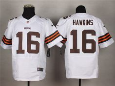Cleveland Browns #16 Andrew Hawkins White NFL Elite