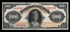 The Thousand Dollar Bill. 1954 devil's face, Dominion of Canada bank note, Bank of Canada bank note, Canadian currency, Bird Series one thousand dollars. Thousand Dollar Bill, Thousand Dollars, One Thousand, Money Template, Bill Template, History Of Philosophy, Money Worksheets, Coin Art, Old Coins