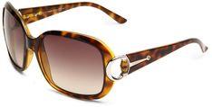 9e7af117c606 Gucci Women's 3132/S Rectangle Sunglasses,Havana Frame/Brown Gradient  Lens,One