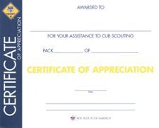 National youth leadership training certificate nylt pinterest certificate of pack appreciation cub scoutsscoutingcertificateappreciation organizing yelopaper Choice Image