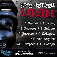 Burpee/kettlehell ladder