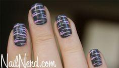 Lilac Tiger Nails