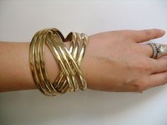Simply Gorgeous Shiny Goldtone Metal 9Piece Total by lizystuff