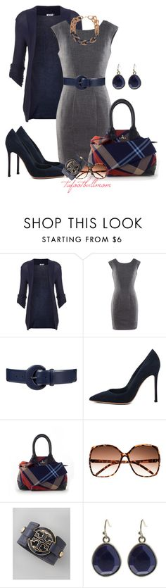 """""""Navy & Gray"""" by tufootballmom ❤ liked on Polyvore featuring WalG, H&M, Lauren Ralph Lauren, Gianvito Rossi, Vivienne Westwood, Tory Burch and ALDO"""