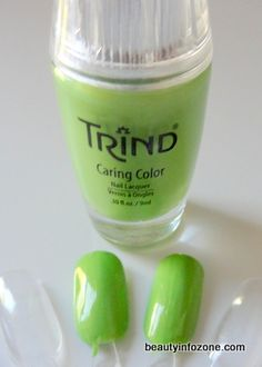 Makeup Wars with Neon polishes - Trind Caring Color in Appletini