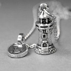 Lighthouse Necklace light house charm by chrysdesignsjewelry