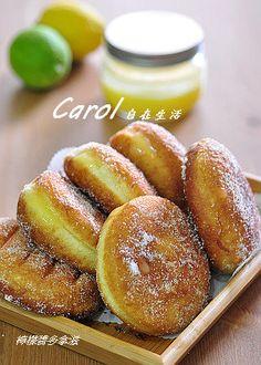 Carol 自在生活  : 檸檬醬多拿滋