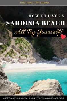 A deserted beach in Sardinia? (not during winter of course) YES! It is possible :) Not only you can have a gorgeous beach all by yourself but you will also find the best deals for hotels and resorts. Can't get better than this, right? Read more in my article! #sardinia #sardegna #traveltips #italy #beaches #beach #vacation #holiday