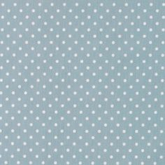 Bomull støvet blå m hvite prikker
