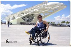 Turismo acessível no Rio de Janeiro. Acessibilidade no belíssimo Museu do Amanhã.