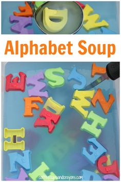 Making alphabet soup with your preschoolers is a great way for them to move and learn! It's a fun early literacy activity that also super simple to set up.