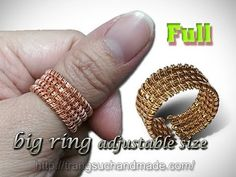How to design unisex ring adjustable size - DIY wire rings - full version ( slow ) 307 Wire Jewelry Rings, Beaded Rings, Wire Bracelets, Jewelry Tree, Copper Jewelry, Jewellery, Handmade Wire, Handmade Jewelry, Tutorial Anillo