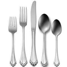Oneida Marquette 18/8 Stainless Steel 5 Piece Flatware Set features soft textured ridging, end-tip with scallop design, hi-luster finish and quality 18/8 Stainless Steel. Coupled with affordable price, this flatware set can be used for either special occasions or as everyday dining set        i-luster finiand quality 18/8 Stainless Steel. All at a very affordable price. Oneida Marquette Flatware Set includes (from left to right) Salad Fork, Dinner Fork, Dinner Knife, Soup Spoon and Tea Spoon