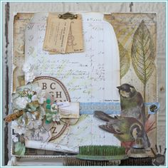 Tammy Tutterow | Vintage Love Canvas for the Paper Love blog hop.