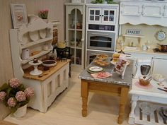 My miniature kitchen 1:12 by It's a miniature life...is playing with clay, via Flickr