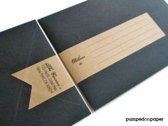 personalized banner wraparound address labels  by pumpedonpaper, $10.50