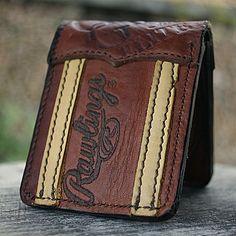 Custom Bi Fold Wallet Built From Baseball Gloves-Vvego  #vvegooriginal #baseballwallets #baseball #customleather #giftsforhim #madeintheusa  Find Us On Instagram @vvegogear  @vv
