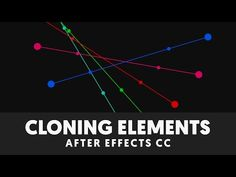 (189) T051 Elemental Animation Tutorial (Cloning in After Effects) - YouTube