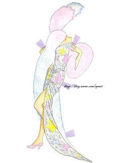 Beauty Queen Barbie Paper Doll, Golden (6 of 7) |  핑크빛 드레스가 너무나 사랑스러운 바비에요~