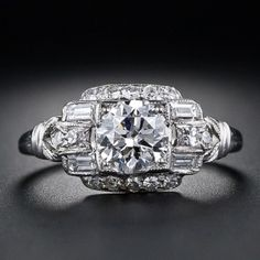 Deco 1930s Diamond Wedding Vintage Ring